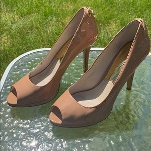 Michael Kors nude open toe pumps
